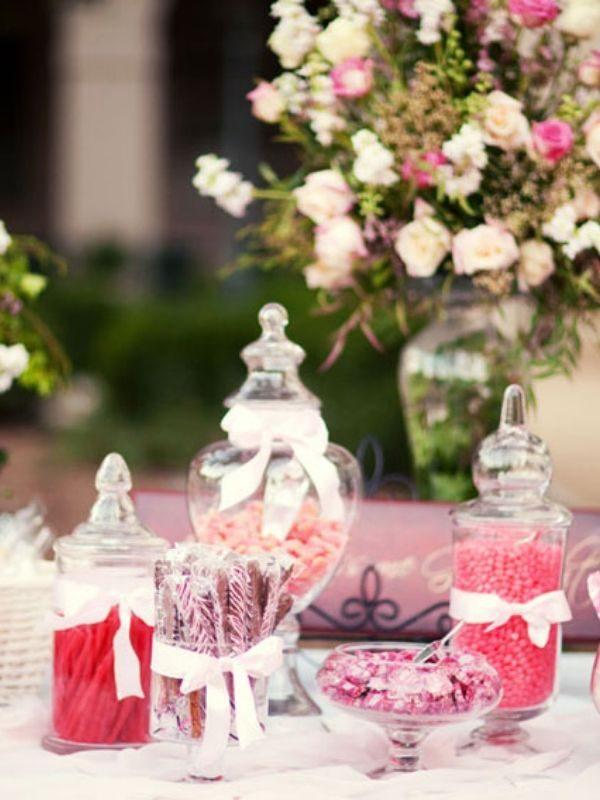 candy bar à bonbon service traiteur avec décoration