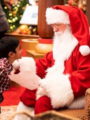 arbre de noël organisation spectacle avec père Noël pour enfant adulte