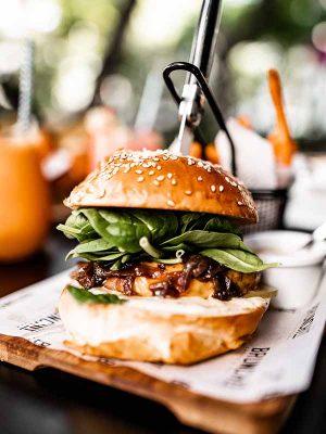 burger traiteur usa chef americain animation